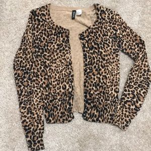Cheetah print cardigan!